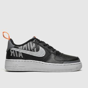 Nike Black & Grey Air Force 1 Lv8 2 Boys Youth