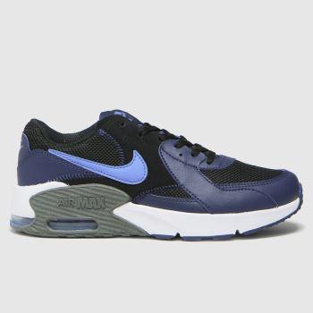 Nike Black & Navy Air Max Excee Boys Youth