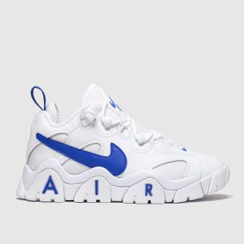 Nike White & Blue Air Barrage Low Boys Youth
