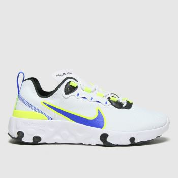 Nike White & Green Renew Element 55 Boys Youth#