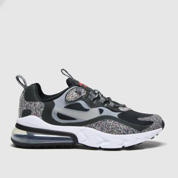 Nike Black & Grey Air Max 270 React Se Boys Youth
