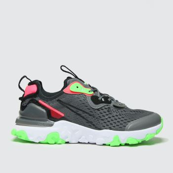 Nike Grey & Lime React Vision Se Boys Youth#