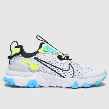 Nike White & Pl Blue React Vision Se Boys Youth#