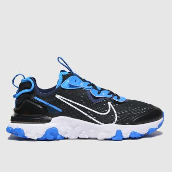 Nike Black and blue React Vision Se Boys Youth#