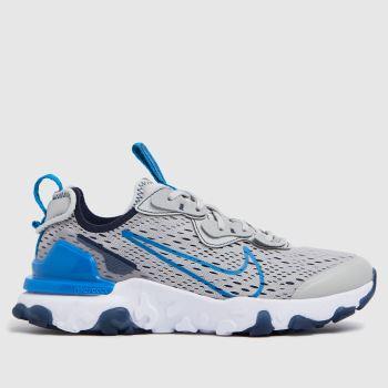 Nike Grey & Navy React Vision Se Boys Youth