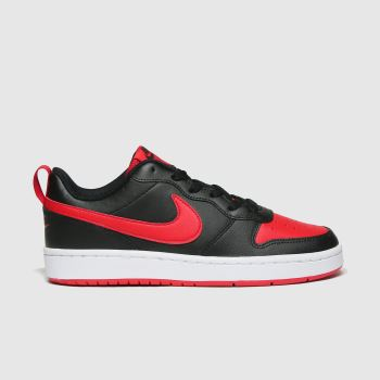 Nike Black & Red Court Borough Low 2 Boys Youth