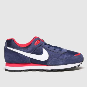 Nike Navy & Red Md Runner Boys Youth