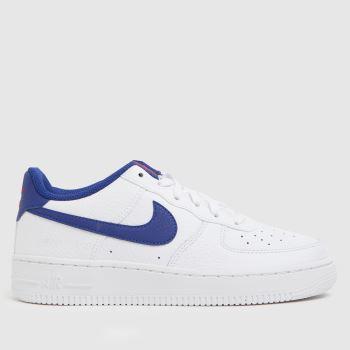 Nike Weiß-Marineblau Air Force 1 Jungen Jugendliche