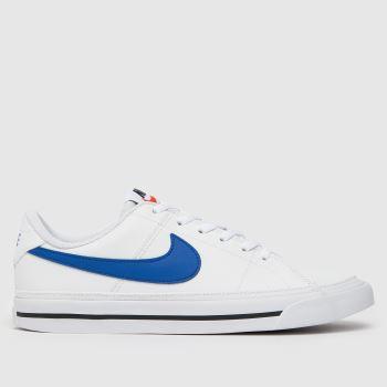 Nike White & Navy Court Legacy Boys Youth