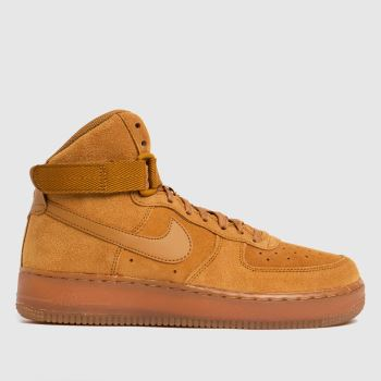 Nike Tan Air Force 1 High Lv8 Boys Youth