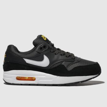 Nike Grey & Black Air Max 1 Boys Youth