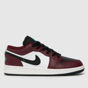 Nike Jordan Burgundy Air Jordan 1 Low Se Boys Youth