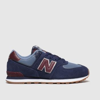 New Balance Navy 574 Boys Youth#