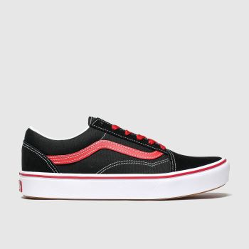 Vans Black & Red Comfycush Old Skool Boys Youth