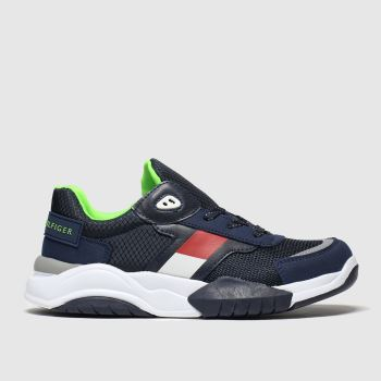 Tommy Hilfiger Navy Lace Up Sneaker Boys Youth