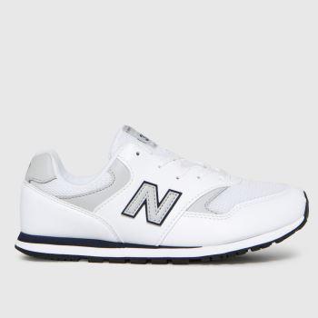 New balance White & grey 393 Boys Youth