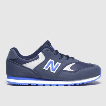 New balance navy & pl blue 393 trainers youth