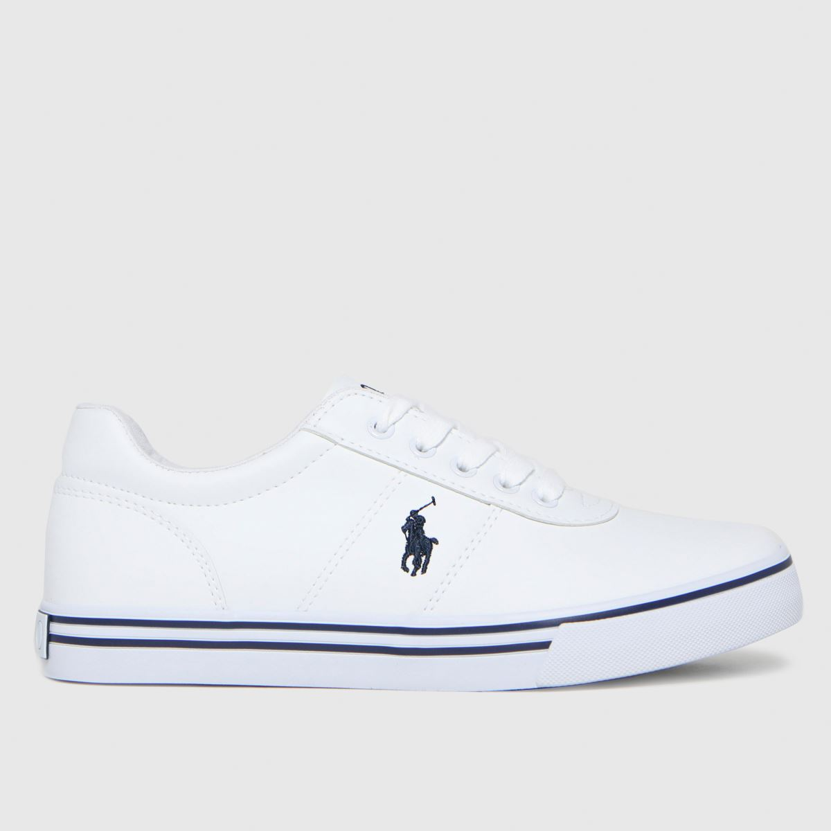 Polo Ralph Lauren White & Navy Hanford Iii Trainers Youth