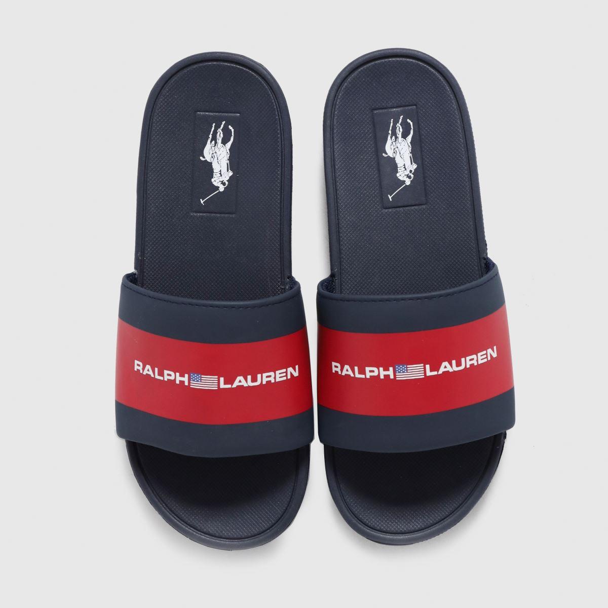 Polo Ralph Lauren Navy & Red Bensley Iii Sliders Youth