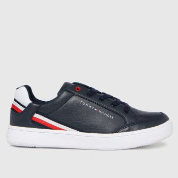 Tommy Hilfiger Navy & White Low Cut Lace-up Sneaker Boys Youth