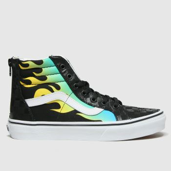 Vans Black & Grey Sk8-hi Zip Boys Youth#