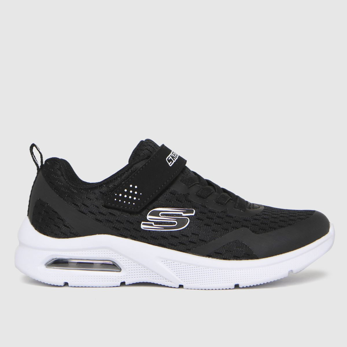 SKECHERS Black & White Microspec Max Trainers Youth