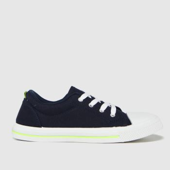schuh Navy & Lime Major Lace Up Boys Youth