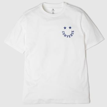 Converse White & Blue Happyface Graphic Tee Mens