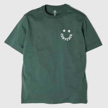 Converse Dark Green Happyface Graphic Tee Mens