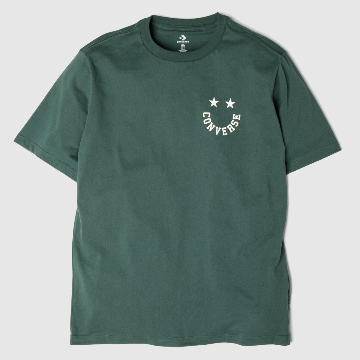 Converse Dark Green Happyface Graphic Tee