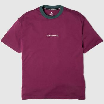 Converse Burgundy Wordmark Tee Mens