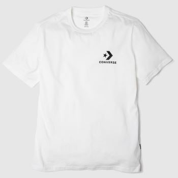 Converse White Star Chevron Ss Tee Mens