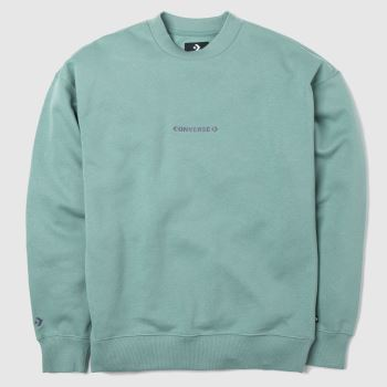 clothing Converse teal mock neck crew