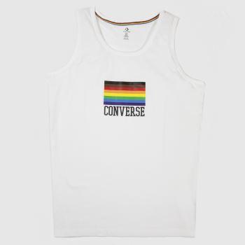 Converse White Pride Flag Tank Top Unisex