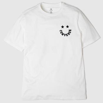 Converse White Smiley Tee Unisex#