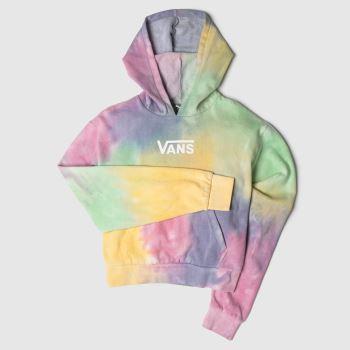 clothing vans multi aura crop hoodie
