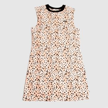 Vans Pale Pink Leila Muscle Tee Dress Womens