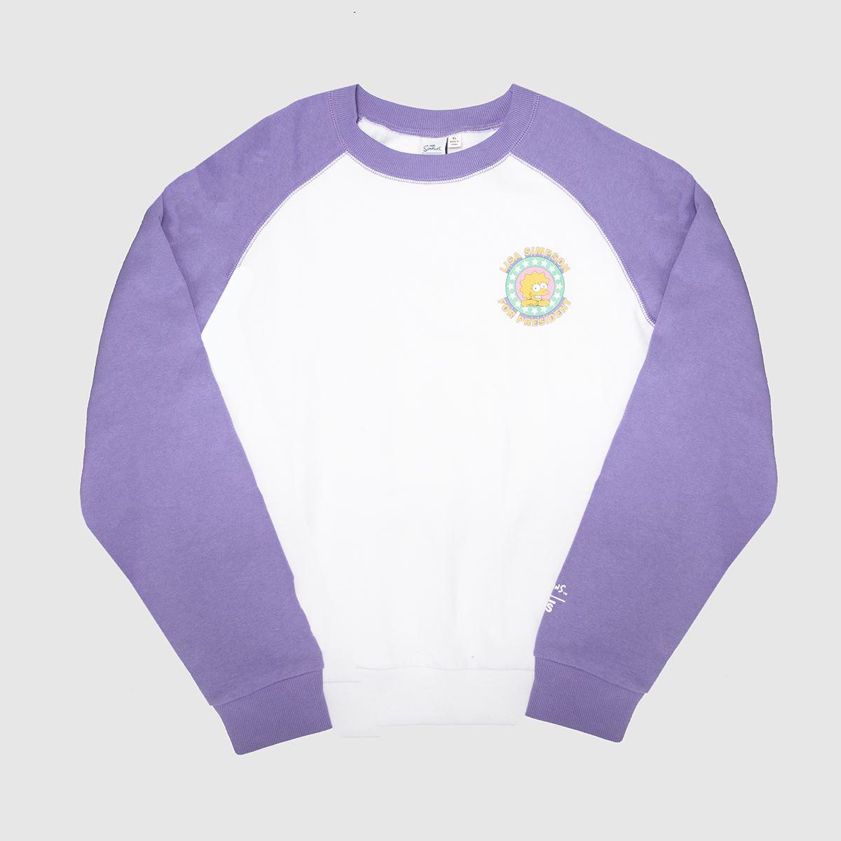 Vans Lilac Sweatshirt The Simpsons