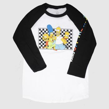 clothing Vans black & white raglan tee the simpsons
