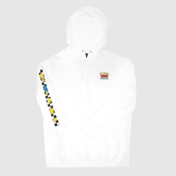 Vans White Hoodie The Simpsons Unisex#