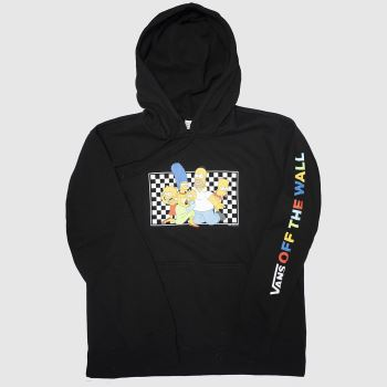 Vans Black & White Hoodie The Simpsons Unisex
