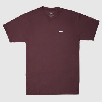 Vans Burgundy Chest Logo Tee Mens