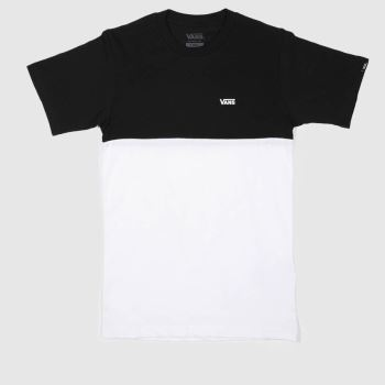 Vans Black & White Chest Colorblocktee Mens