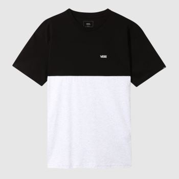 Vans Grey & Black Colorblock Tee Mens