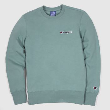 Champion Green Crewneck Sweatshirt Mens