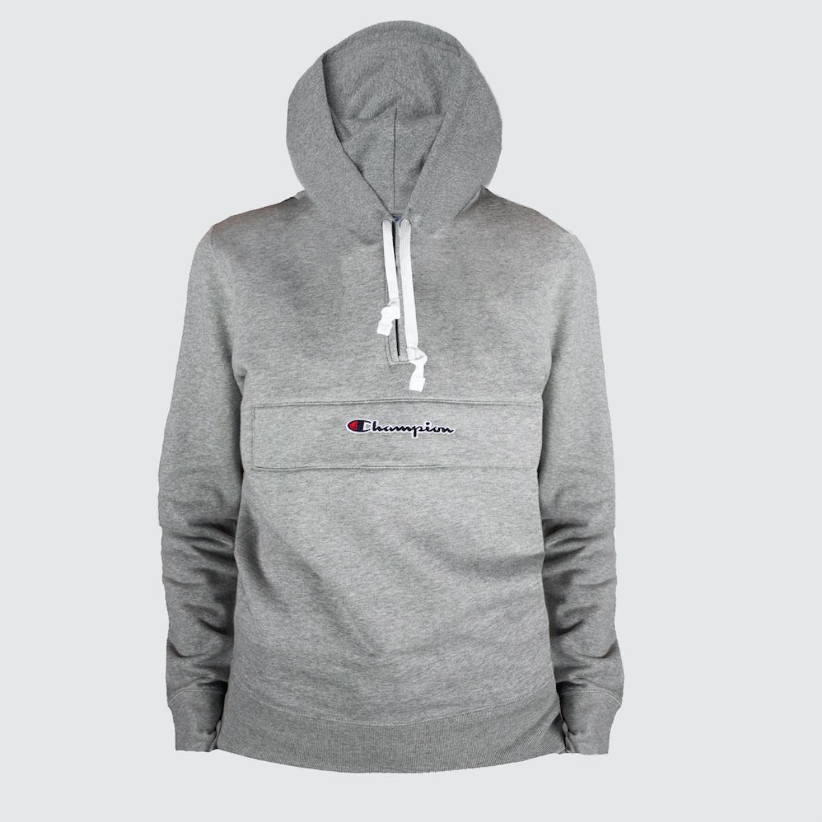 Champion Light Grey Half Zipped Sweatshir