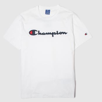 Champion White Crewneck T-shirt c2namevalue::Mens
