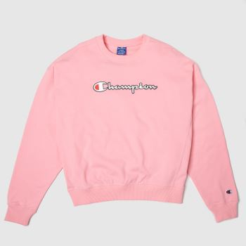 Champion Pink Crewneck Sweatshirt c2namevalue::Womens