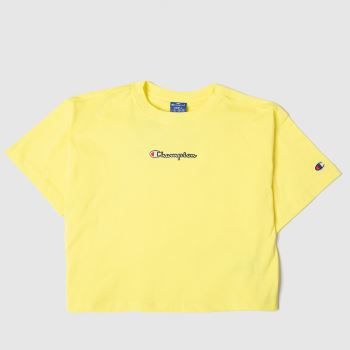 Champion Yellow Cropped T-shirt Womens