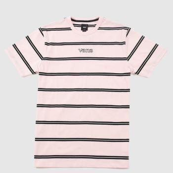 Vans Pale Pink Sixty Sixers Stripe Tee Unisex